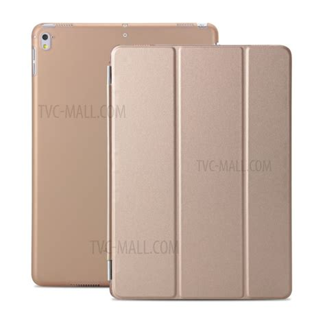 3 Fold Flip Leather Pro 10 5 Gold tri fold stand detachable 2 in 1 pu leather flip for