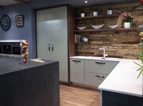 timber cladding open shelving turn plain kitchen