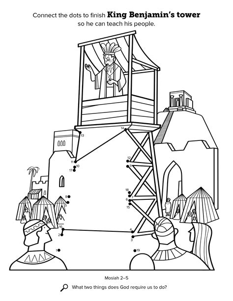 lds coloring pages enos king benjamin addresses his people