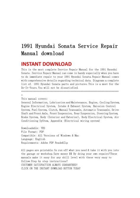 service repair manual free download 1994 hyundai sonata electronic throttle control 1991 hyundai sonata service repair manual download by jsnhefmn issuu