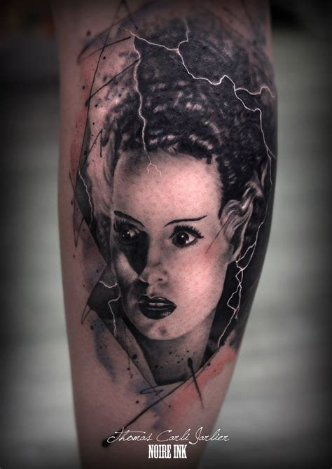 bride of frankenstein tattoo designs 118 best of frankenstein tattoos images on
