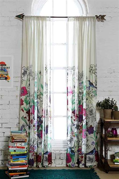 urban curtains plum bow forest critter curtain urban outfitters