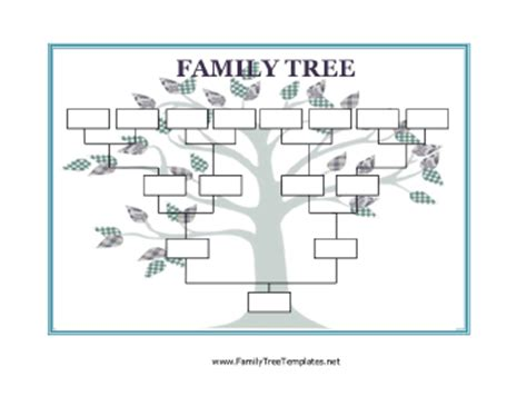 homeschool printable use this blank family tree with