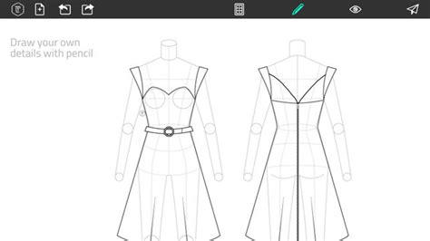 clothes pattern generator online fashion design flatsketch on the app store