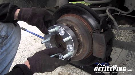 install wheel spacer  adapters getjeeping youtube
