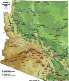 arizona railroad map az rail rat