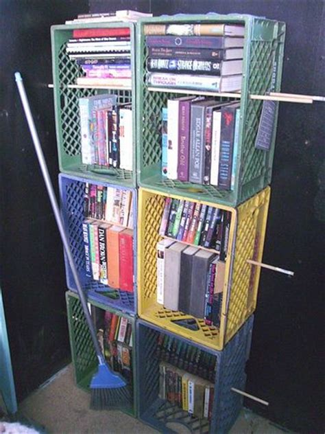 best 25 milk crate shelves ideas on crate
