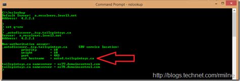 Test Dns Lookup How To Check Exchange Autodiscover Srv Record Using