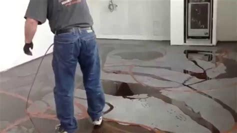 Metalic Design designer metallic epoxy floor installation