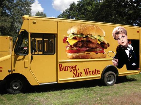 burger food truck design such a cool idea burger she wrote food truck plays off