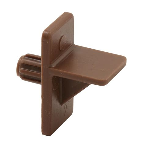 kitchen cabinet shelf brackets prime line 1 4 in brown plastic shelf support peg 8 pack u 9255n the home depot