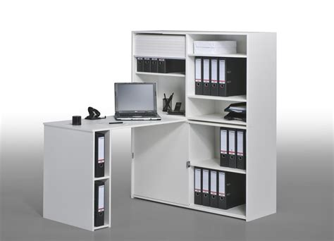 bureau informatique contemporain avec rangement ch 234 ne