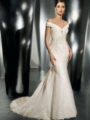 Bardot Lace Wedding Dress by Aed4999 For This Gorgeous The Shoulder Bardot Lace And Satin Wedding Dress Beautiful