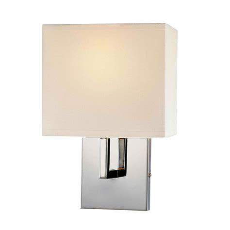 L Wall Sconce by George Kovacs 1 Light Wall Sconce In Chrome L Brilliant