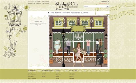 shabbie chic web design style website design layout