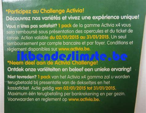 activa challenge activia challenge pack 4 yoghurts tevreden of