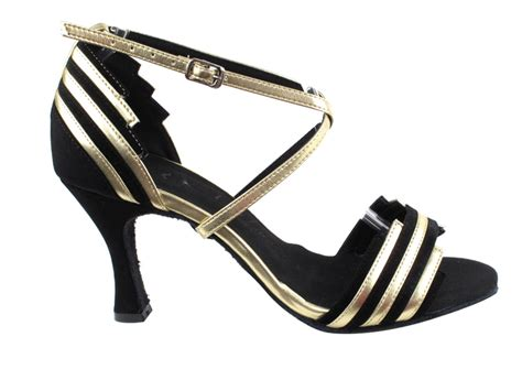 sera1700 black suede light gold trim