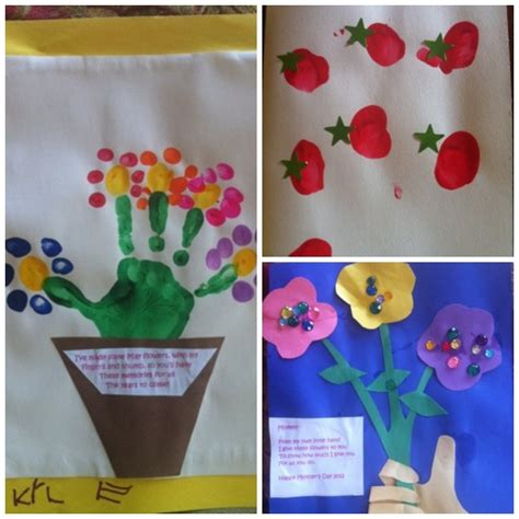 craft ideas for for mothers day s day handprint and fingerprint craft ideas
