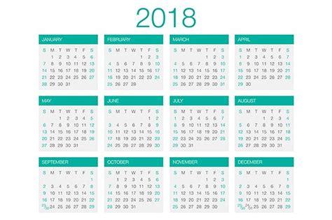 Moldova Calendario 2018 Calendar Vector 2018 Stationery Templates Creative Market