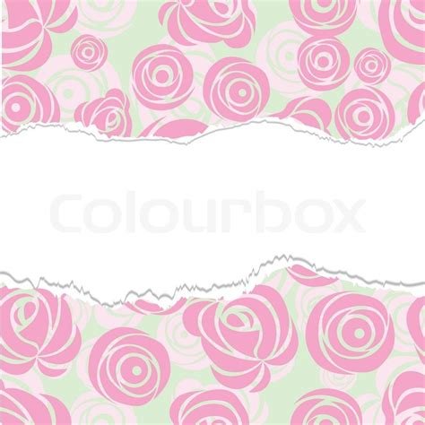 cute background pattern vector torn paper wrapping pink art vector rose pattern seamless