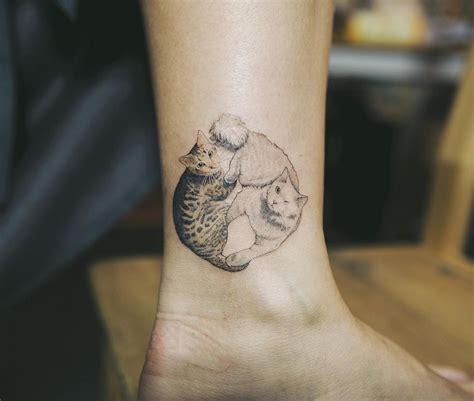 cat yin yang tattoo 45 cat tattoos for true cat lovers tattoomagz