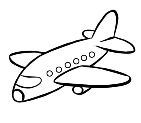 imagenes blanco y negro de las vocales aviones para colorear