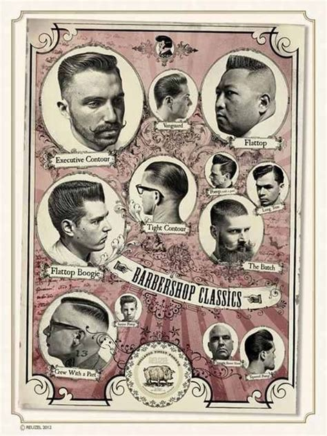 vintage haircut chart hairstyle poster all things hair pinterest