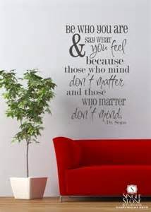 Dr Suess Wall Stickers Be Who You Are Dr Seuss Vinyl Wall Decals By