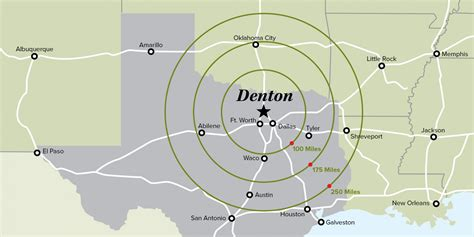 where is denton texas on a map denton map kelloggrealtyinc