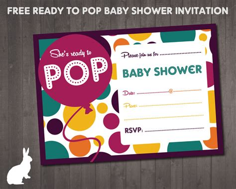 Ready To Pop Baby Shower Invitations Free free ready to pop baby shower invitation invitations