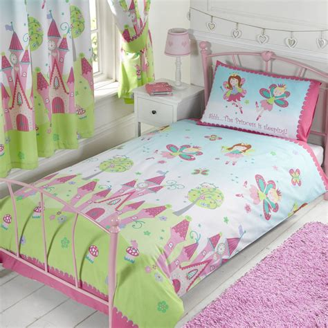 fairy bedding fairy princess sleeping single duvet cover set new girls