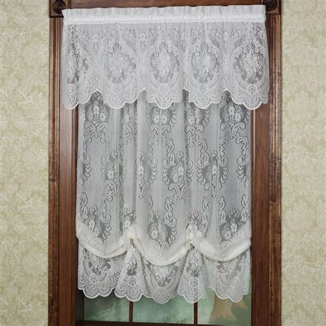 Shade Curtains Decorating Lace Balloon Shade Curtains Window Treatments Design Ideas