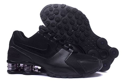 nike shox nz all black mens athletic running shoes
