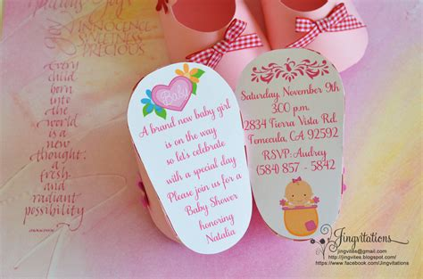 Baby Invitations by Favors Jingvitations