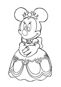 princess minnie coloring pages minnie mouse princess pages coloring pages