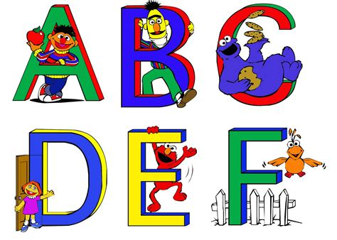 printable alphabet letters sesame street sesame street and free clipart clipart collection