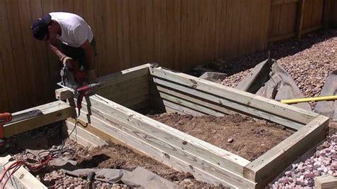 How To Make A Garden Planter by Building A Raised Vegetable Garden Planter Landscape