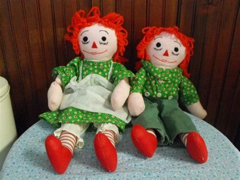 Handmade Raggedy And Andy Dolls - vintage handmade raggedy and andy rag dolls