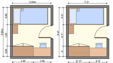 size of single bedroom kid s bedroom layouts with one bed