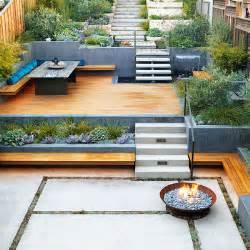 Terraced Backyards Retaining Wall Ideas Sunset