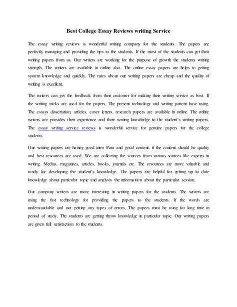 Best College Essay Writers Service by Essay Writing Service Reviews Best Essay Writing