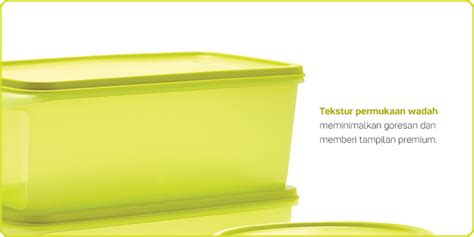 Tuperware Slask N Stor fresh lime collection tupperware wadah penyimpanan tuperware