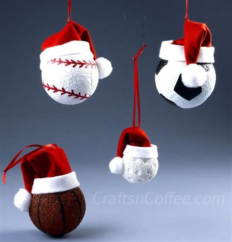 collection of diy ornaments for sports fans idea for gifts craftsncoffee