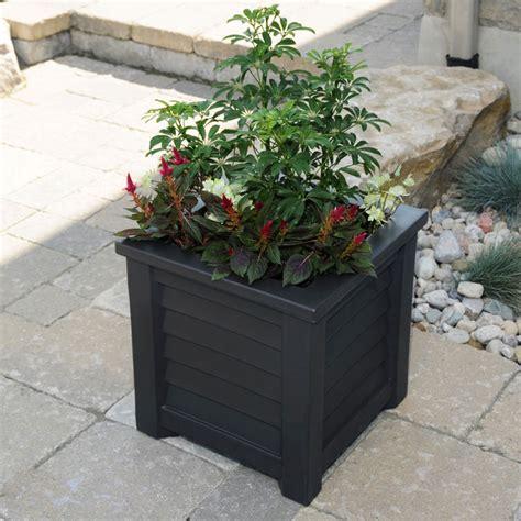 southern planter boxes square vinyl deck planters hooks