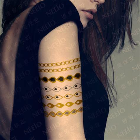 flash tattoo jewelry inspired flash tattoo gold silver metallic temporary tattoos fake