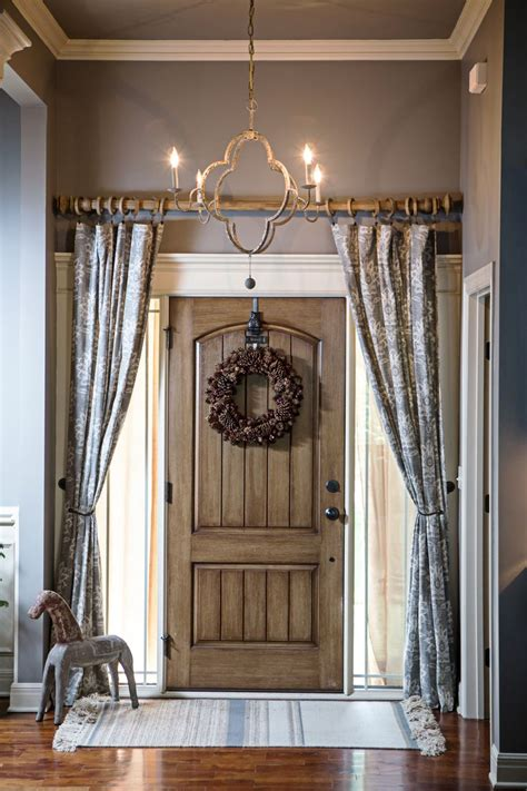 Curtain For Front Door Curtains The Front Door Foyer Add Privacy And Style Chandelier By Gabby Rod From