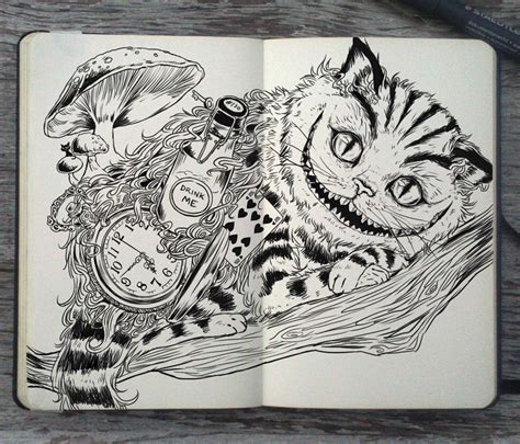 cat journal 6x9 write sketch doodle books 130 cheshire cat by picolo kun on deviantart