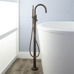 Moen Gooseneck Faucet Simoni Freestanding Tub Faucet And Hand Shower Bathroom