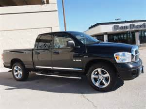 dodge ram 1500 2008 black truck laramie gasoline 8