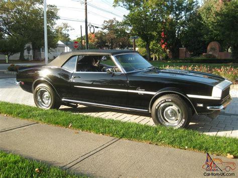 67 camaro ss 396 1968 rs ss 396 375 camaro black convertible